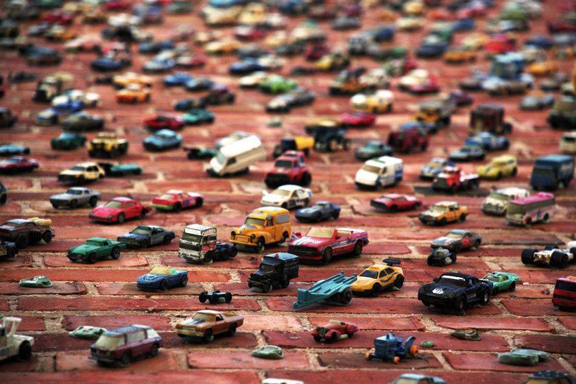 Cars Photographic Print, Toy Cars, Toy Trucks, Boys Nursery Wall Art 8 x 10. $30.00, via Etsy.