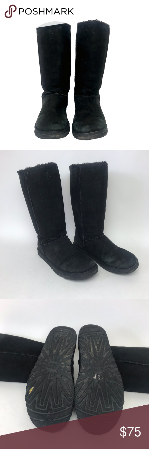 749cef612f2a UGG Classic Tall Black Boots Size 8 UGG Australia Classic Tall Boots in Black  Size 8 Pre-owned  Any defects of signs of wear are shown in images -Both  boots ...