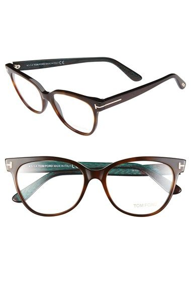 3f77df0a3bd ... on Tom Ford 55mm Optical Frames (Online Only) at Nordstrom.com.  Pristine logo hardware shines on the iridescent temples of retro-chic cat-eye  frames.