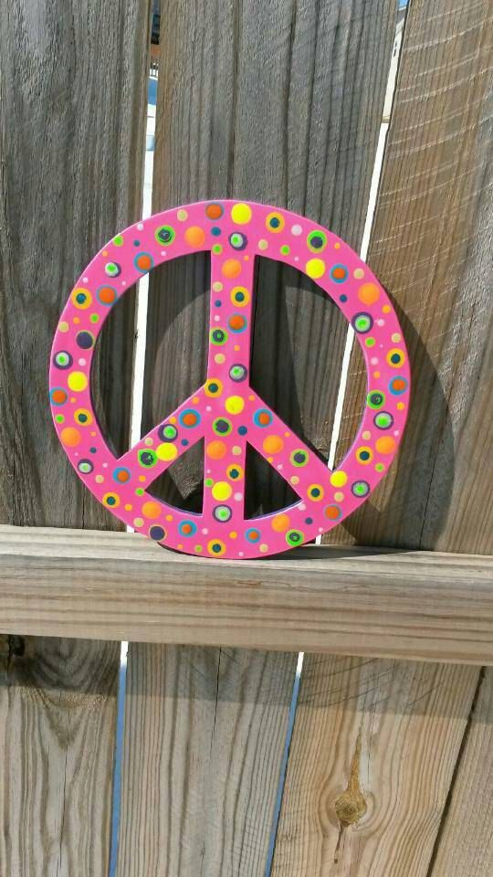 Peace Sign Bedroom Accessories: Peace Sign Wall Hanging Peace Sign Wall Decor By