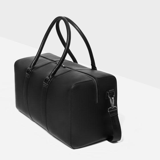ea077b98d1 Image 2 of CLASSIC BLACK DUFFLE BAG from Zara