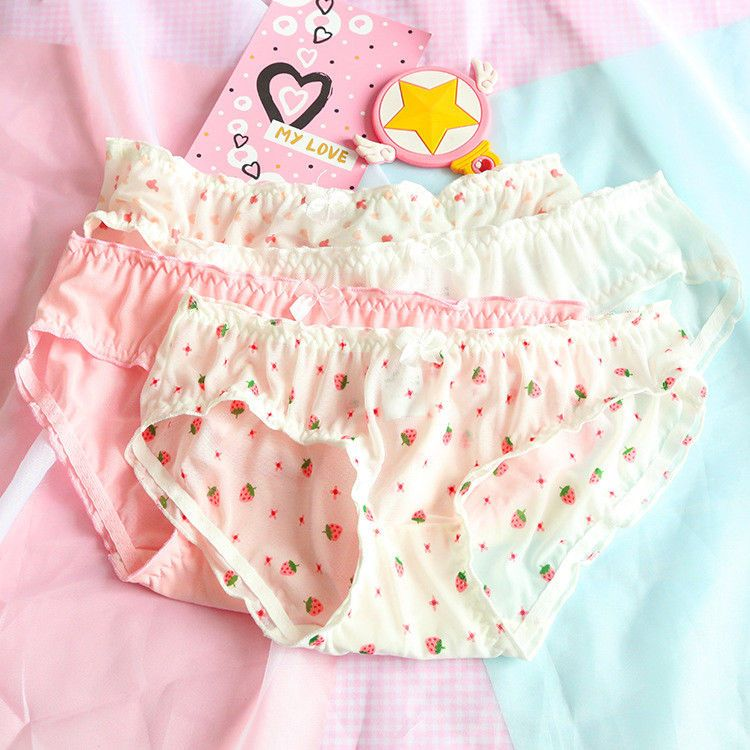 ee7258bd6617 Kawaii Japanese Mori Girl Panties Sheer Mesh Cotton Cute Low Rise Underwear  Gift #Unbranded #BriefsHiCuts #Everyday