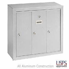3 Door Vertical Cluster Mailbox Aluminum Finish Surface Mounted Usps By Salsbury Industries 128 38 Made En Cluster Mailboxes Home Safety Salsbury Industries