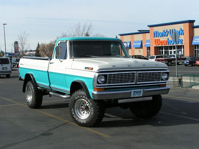 Dream Truck But Need It To Be Painted Teal Not Teal White Ford Trucks Classic Ford Trucks Ford Truck