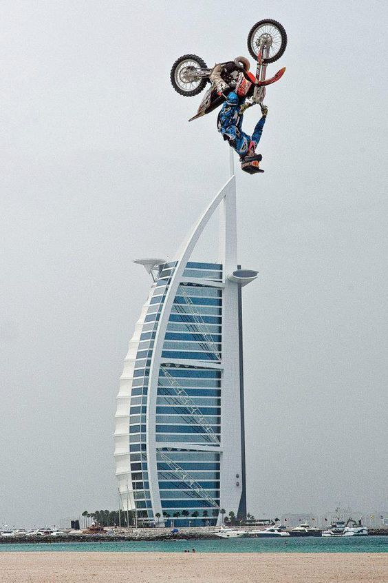 What Could Be A Better Place To Perform Some Crazy Bike Stunts