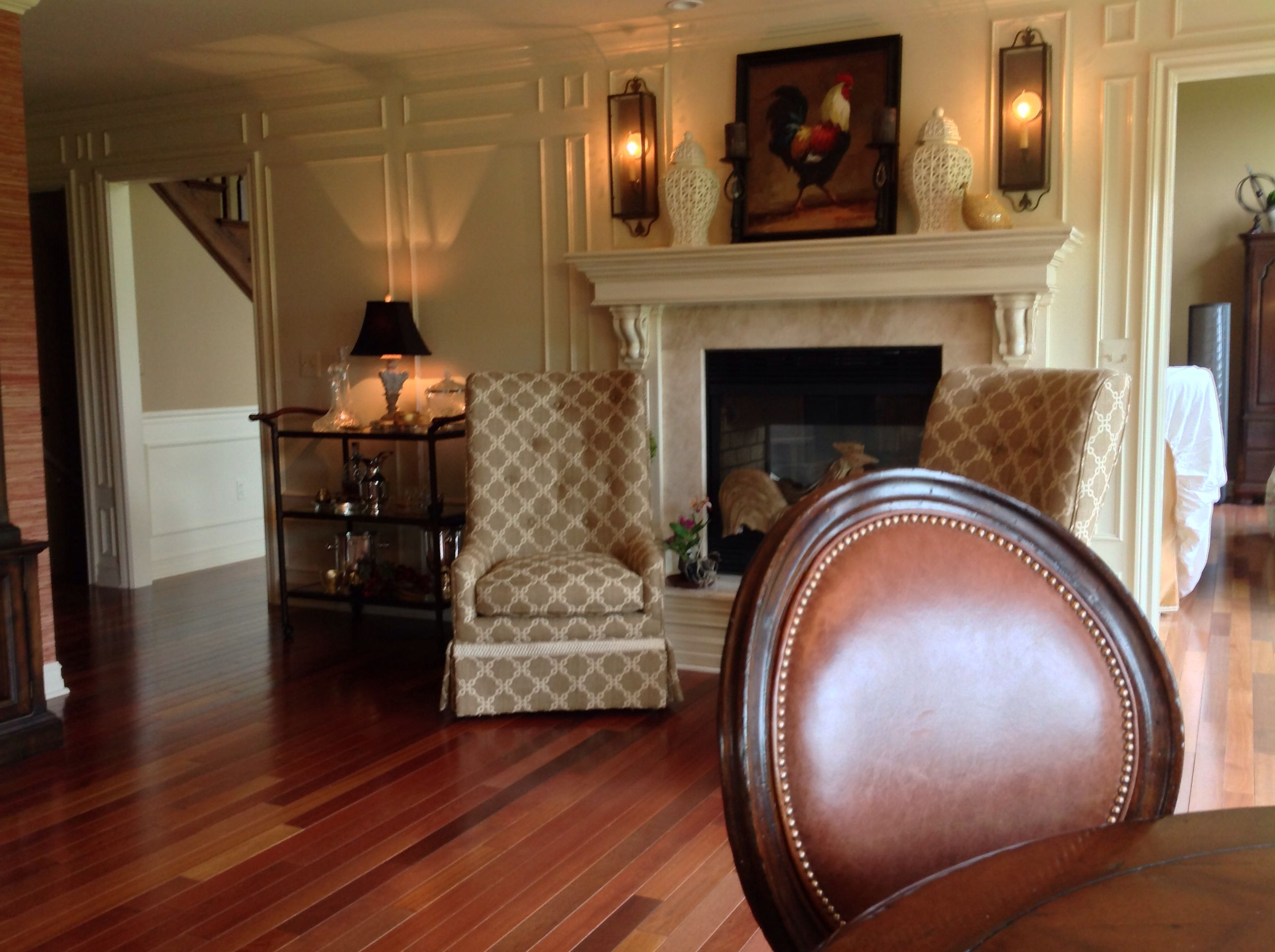 Www.homeworkinteriors.net In Front Of The Hearth, Sherrill Furniture Chairs  In Duralee