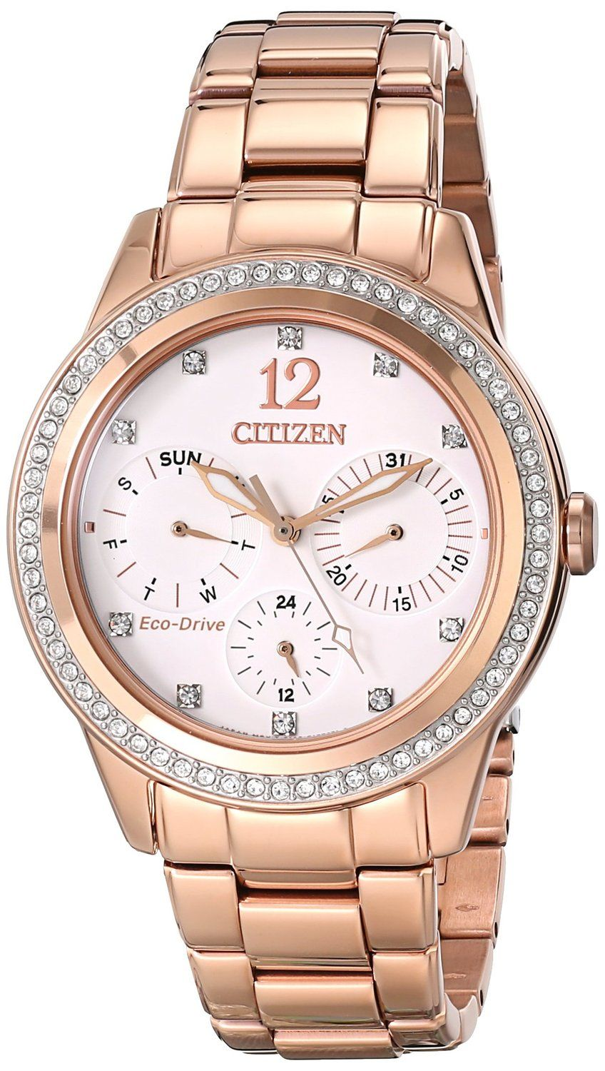 Women Watches Best Gold Watches For Women Citizen Eco Drive Dress Stainless Steel Rose Gold Wome Rose Gold Watches Women Crystal Watches Gold Watches Women