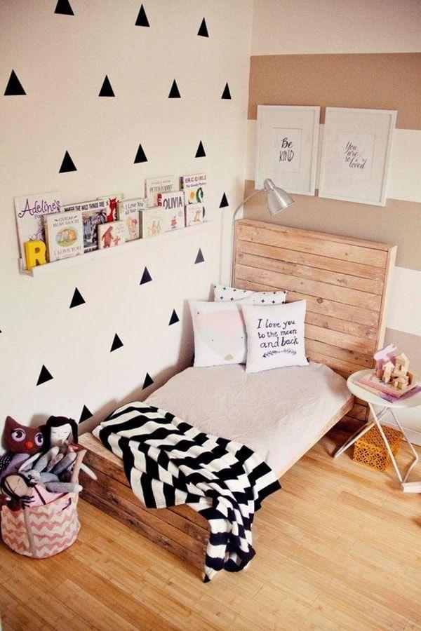 Palets Para Decorar Habitaciones Infantiles Tarimas Cabecero Y Camas - Ideas-para-cabeceros-de-cama-juveniles