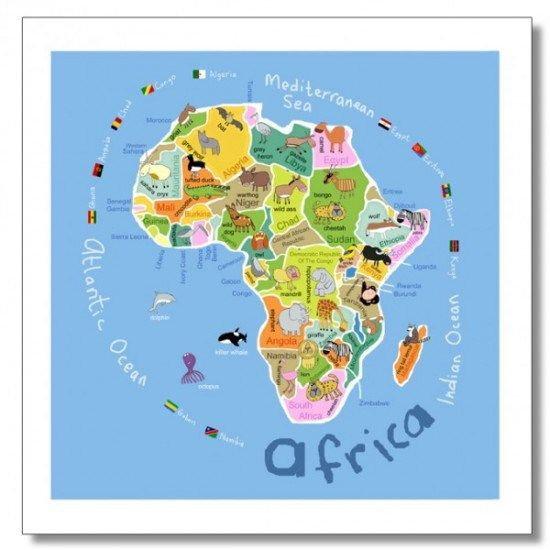 Introducing Africa To Kids Classroom Ideas Pinterest Africa - Map of africa for kids