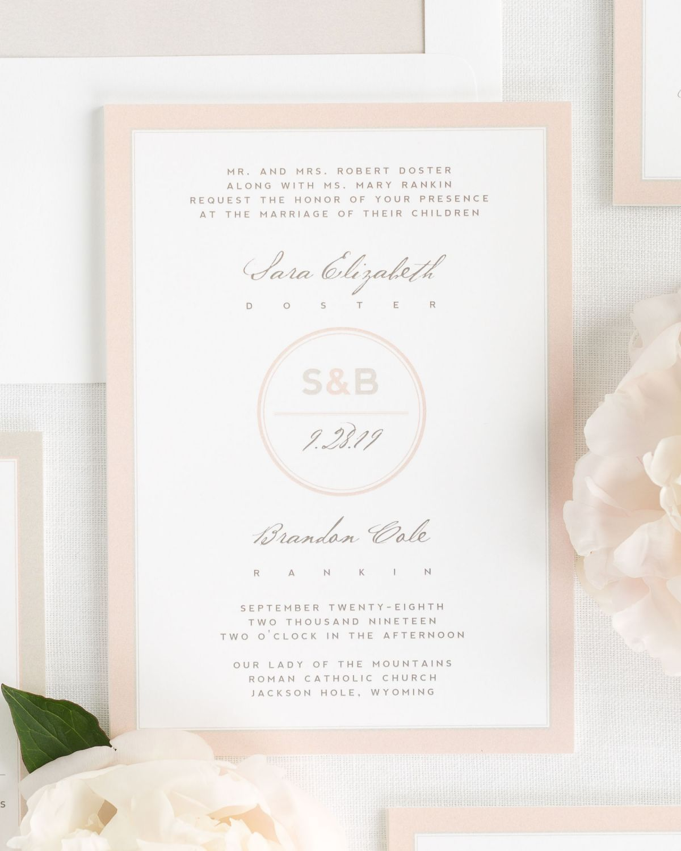 Modern Circle Logo Wedding Invitations | Wedding invites | Pinterest ...