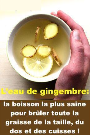 L'eau de gingembre: la boisson la plus saine pour brûler