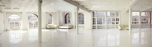 divine studio NY - dream space with white epoxy floors, amazing windows & lots of natural light