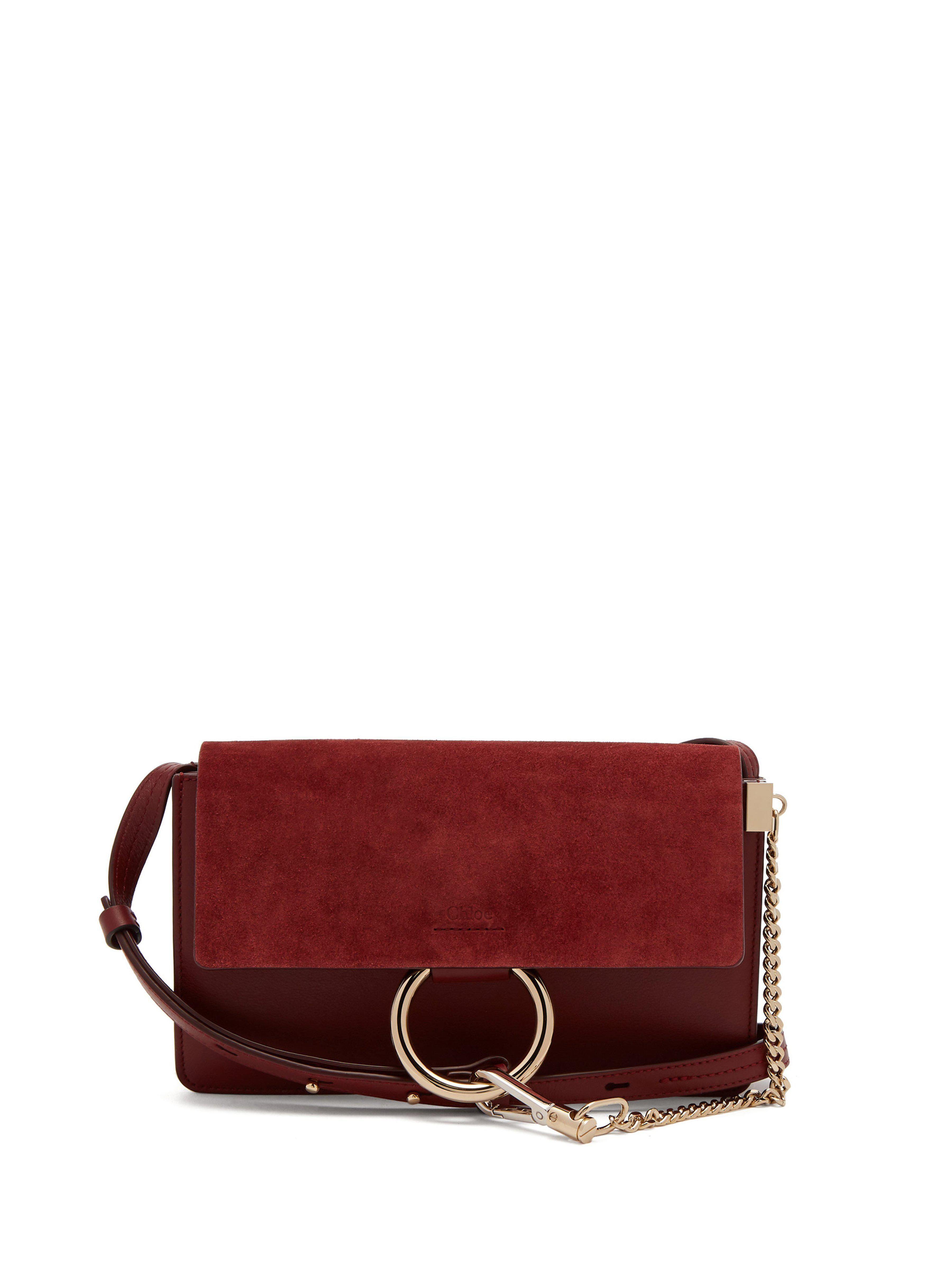409ba9b1cc Women's Red Faye Mini Suede And Leather Shoulder Bag in 2019 ...
