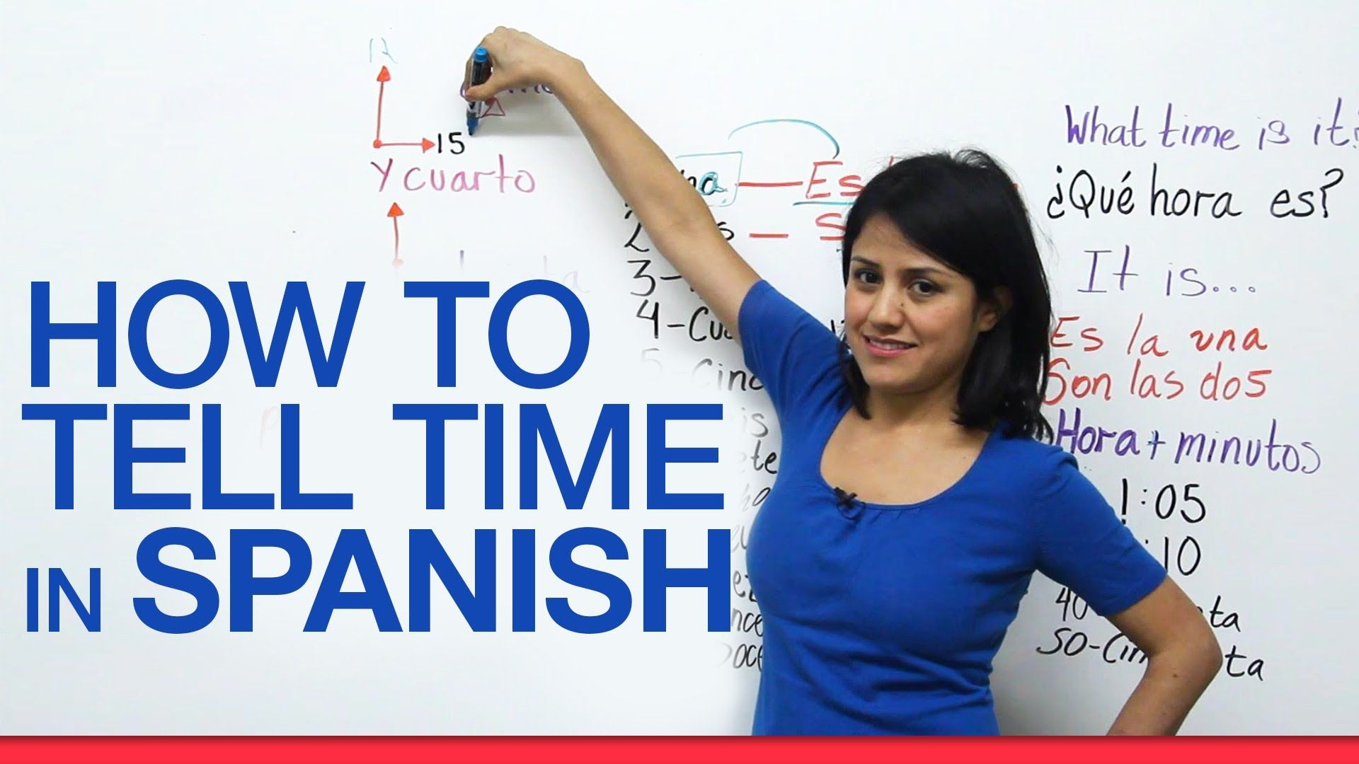 Capitulo 1 La Hora How To Tell Time In Spanish With