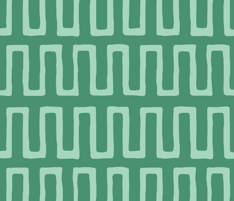 Urn in Jade by Domesticate from Spoonflower #fabric #green