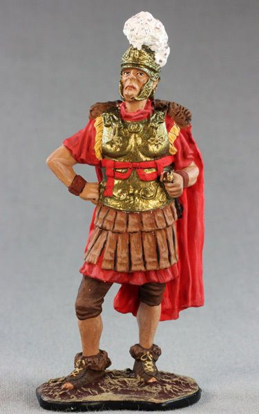 Roman tin toy soldier, 54mm, hand-painted, figurine, St.Petersburg 1