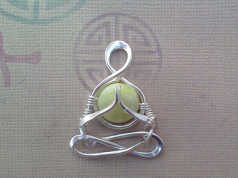~ Y O G I ~ IN ~ L O T U S ~ Namaste Yogi © ...A Little Yogi © pendant, Handmade in silver ... Artist: B I B I ~ B I J A *** RESERVED FOR