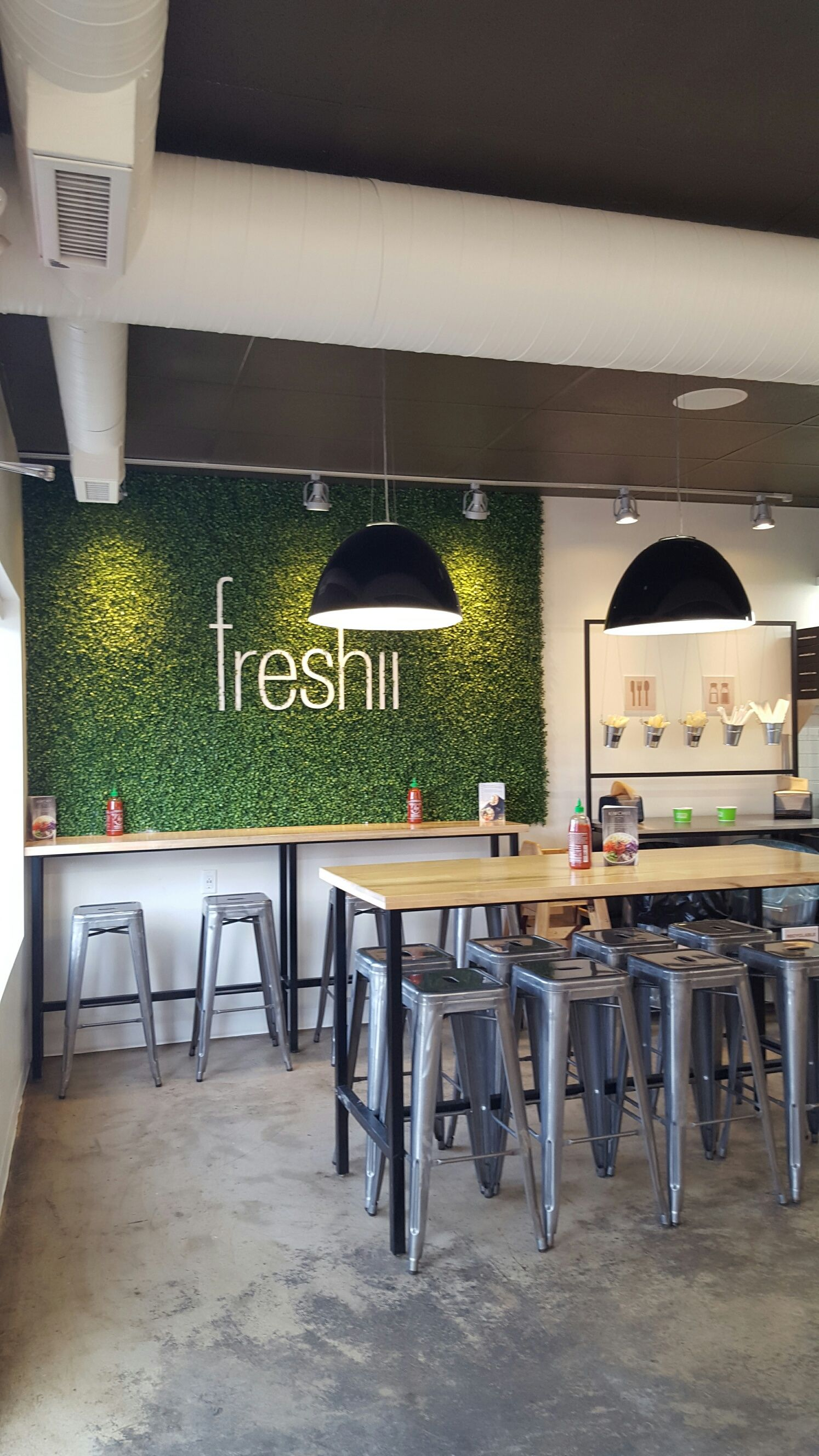Freshii High Top Communal Table Restaurant Design Pinte - High top communal table
