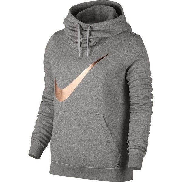 Women 39 S Nike Sportswear Funnel Neck Hoodie 55 Liked On