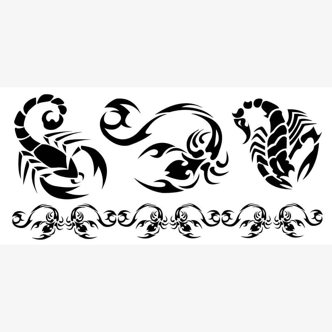 M064 Tattoo Decal 9 19 Cm 3 5 7 5 In