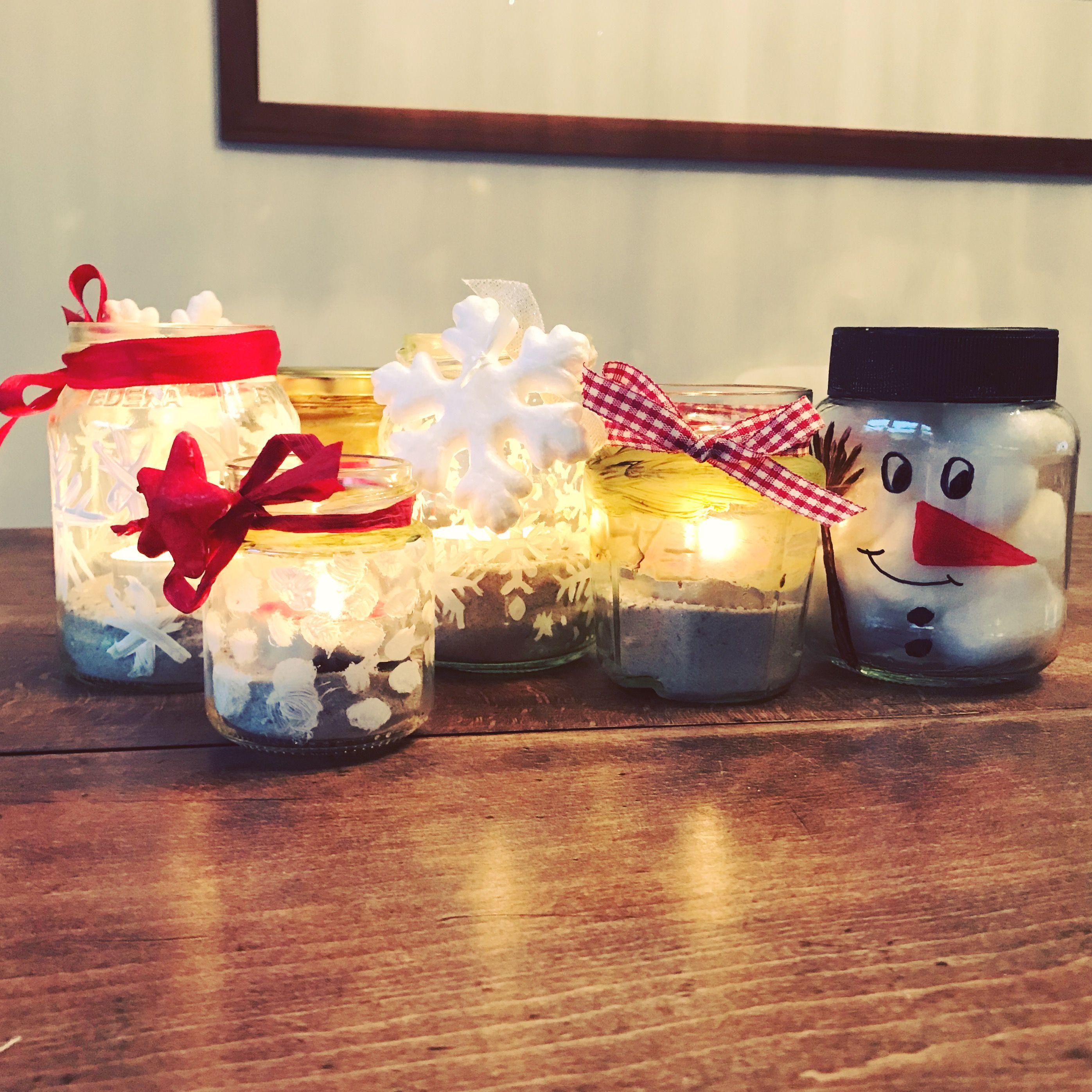 Weihnachten Basteln Weihnachtsbasteln Geschenk Glas
