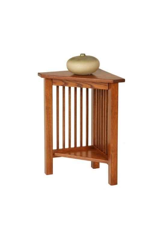 Amish Mission Junior Corner End Table Small Corner Table Corner Table Living Room Corner Table