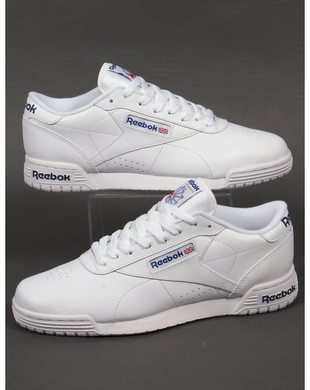 750aabfd Reebok Exofit Lo Clean Logo Trainers White - Reebok from 80s Casual  Classics UK