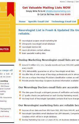 Neurologist email address | Neurologists email list | Email