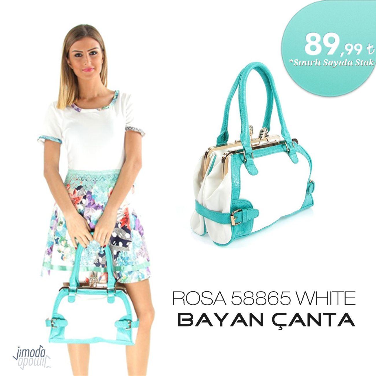 Her Kadinin Canta Koleksiyonunda Bulunmasi Gereken Bir Model Rosa 58865 White Bayan Canta Jimoda Com Da Canta Bag Bayan Giyim Akses Moda Canta Trendler