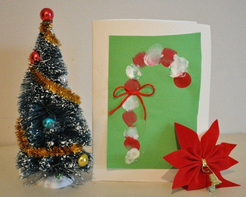 weihnachtskarte selber gestalten zuckerstange aus. Black Bedroom Furniture Sets. Home Design Ideas