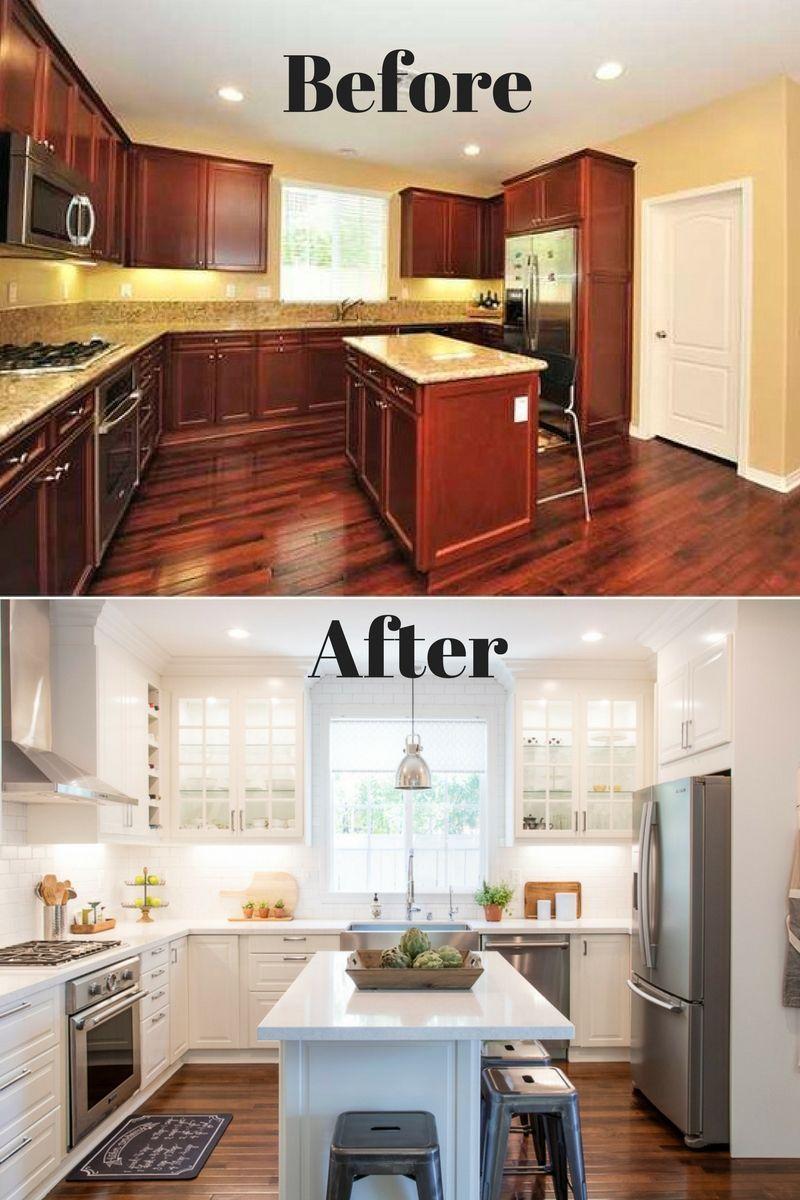 White ikea modern farmhouse style kitchen en 2019 - Refaire sa cuisine rustique en moderne ...