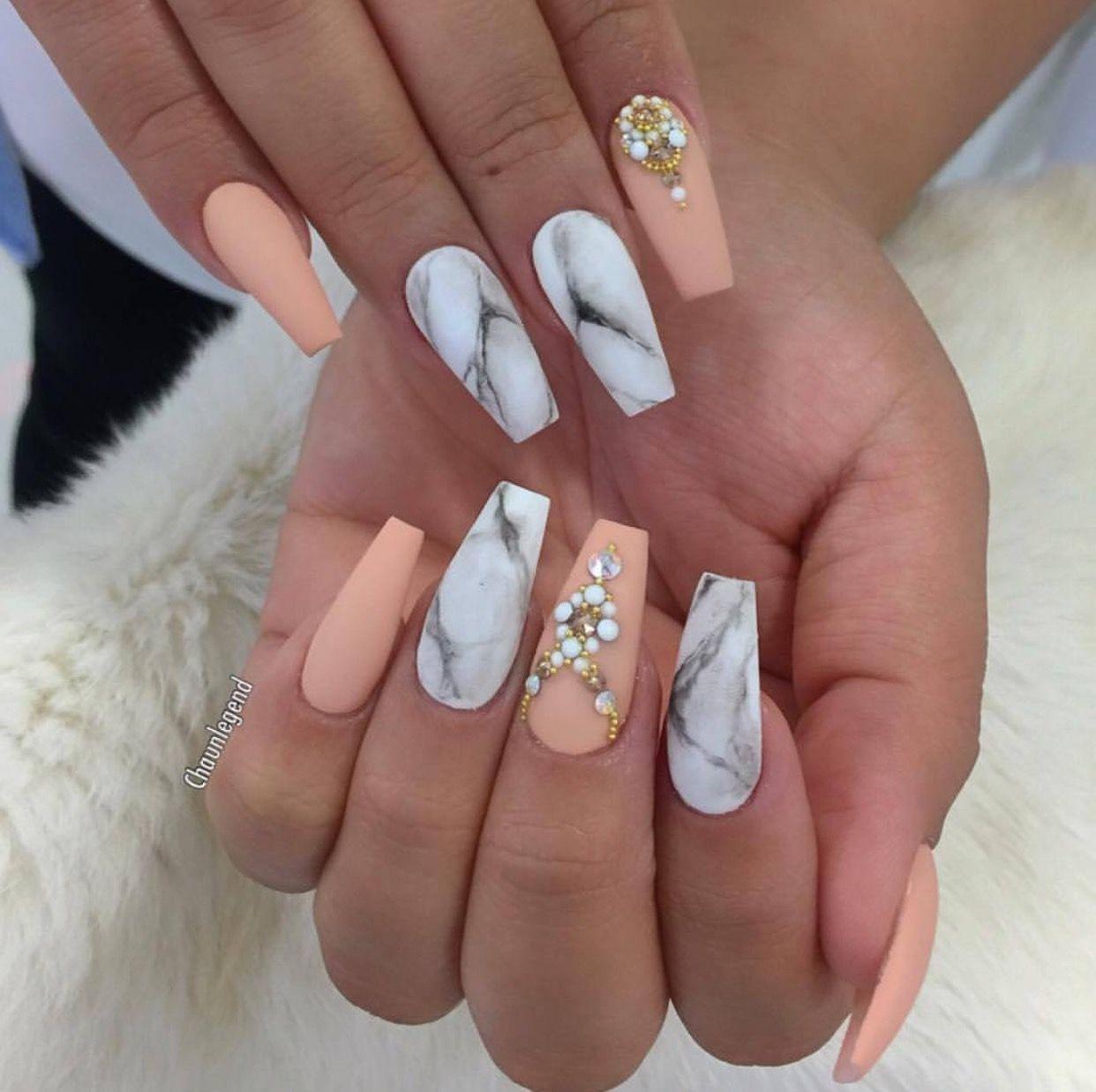 Pin by lizeth paolahernandez on nails marmol   Pinterest   Manicure ...
