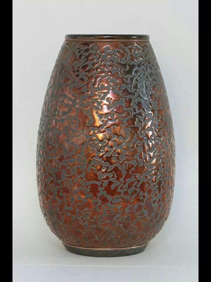 Gruchalla Pottery Duluth Minnesota Pottery Cylinder Vase Ceramics