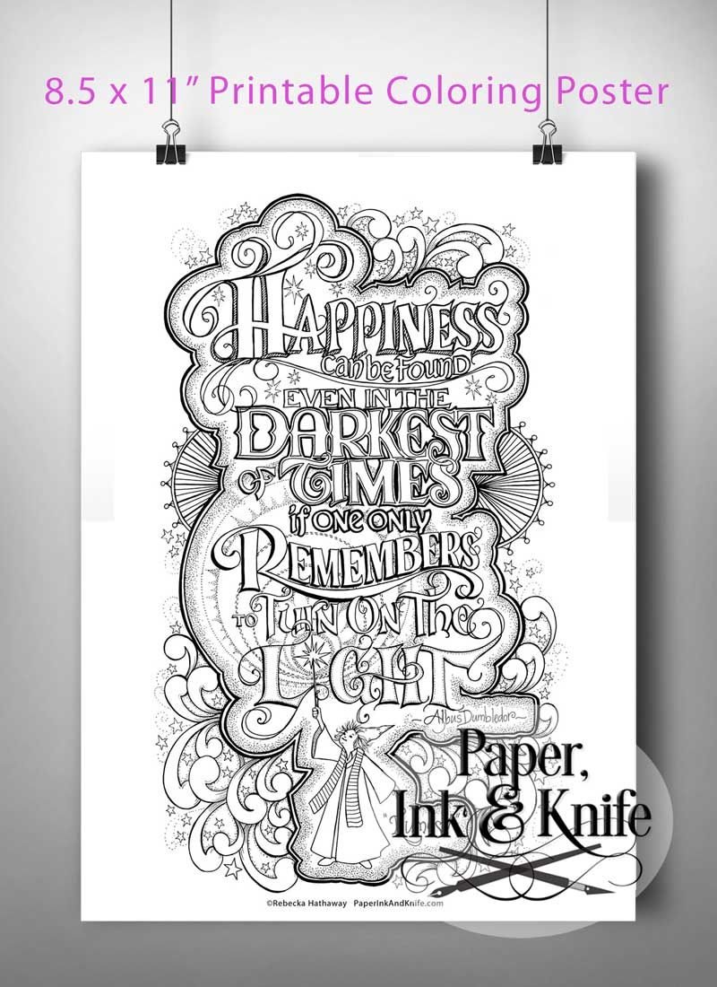 Harry Potter Dumbledore Quote Printable Poster Sized Adult