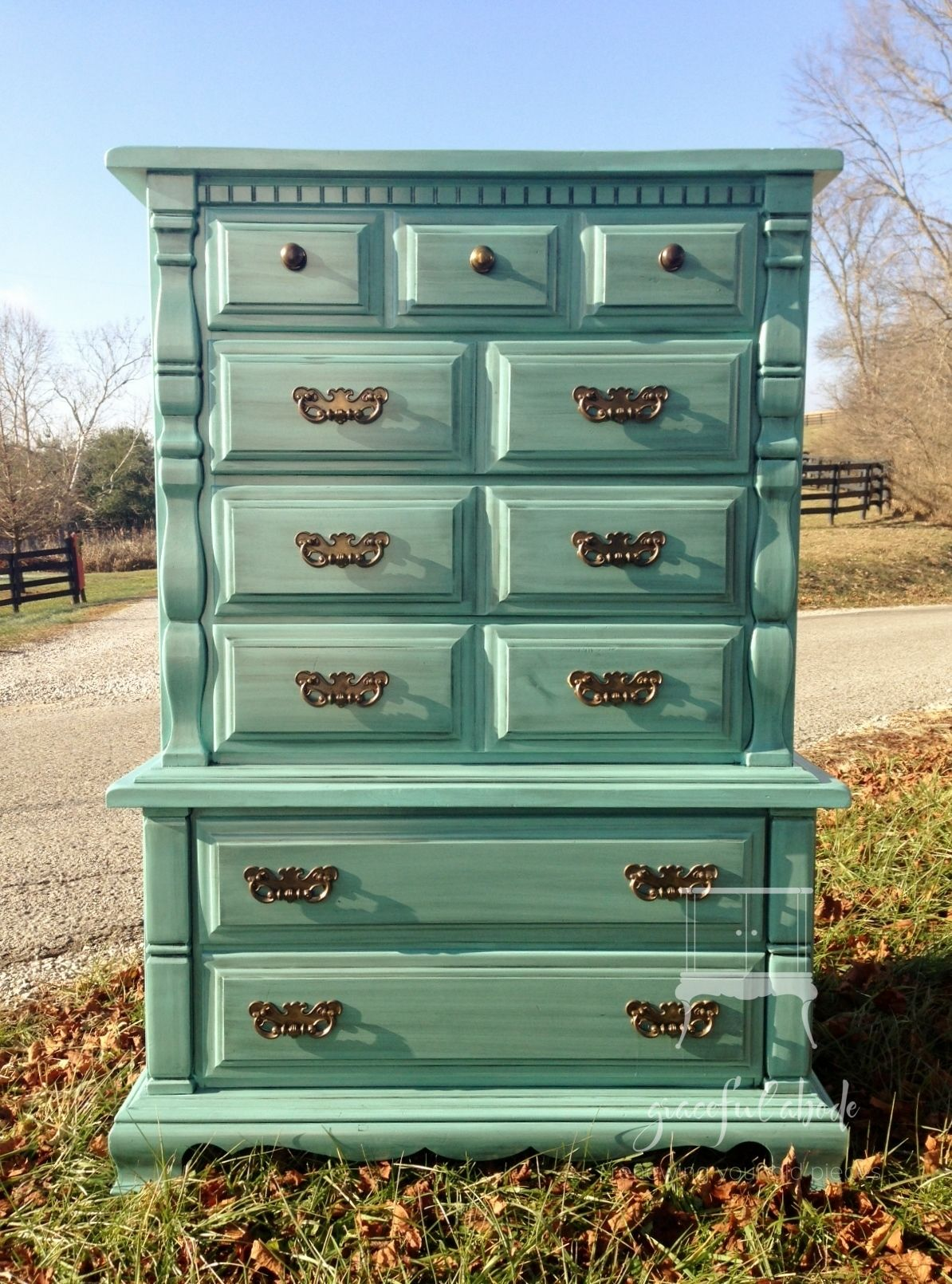 Beautiful Vintage Chest on Chest Rare piece made by Sumter