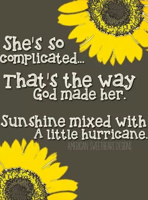Sunshine Mixed With A Little Hurricane Lyrics To Live By