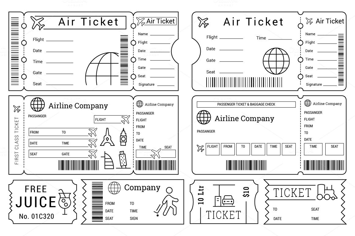 Ticket Templates Pack By Creative Stall On Creative Market