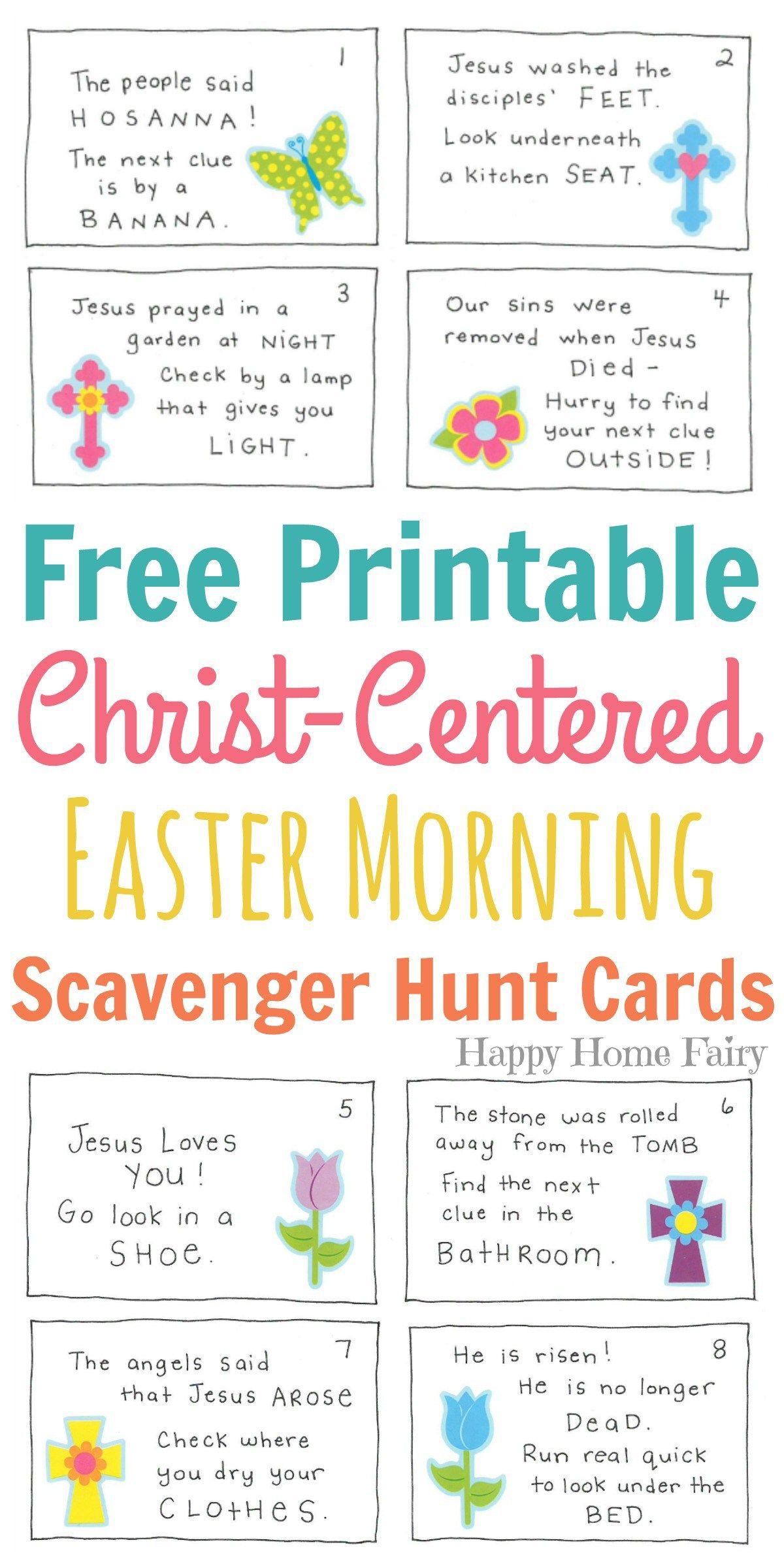 Christ Centered Easter Morning Scavenger Hunt For Preschoolers