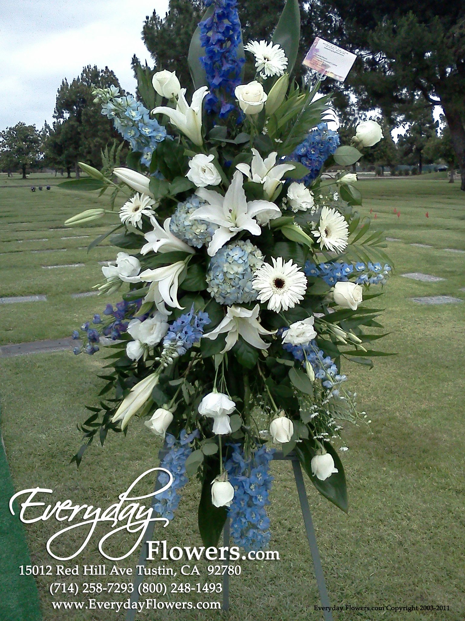 funeral flowers Don t love these whites but these bluish purples are a