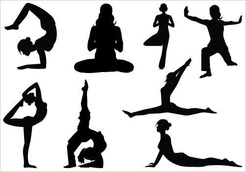 yoga clip art pack silhouette clip artsilhouette clip art stock rh pinterest ca yoga clip art funny images yoga clip art images