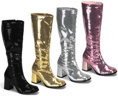 9d5799f6481d Plus Size Wide Width Bordello Sequins Gogo Boot - Available in ...