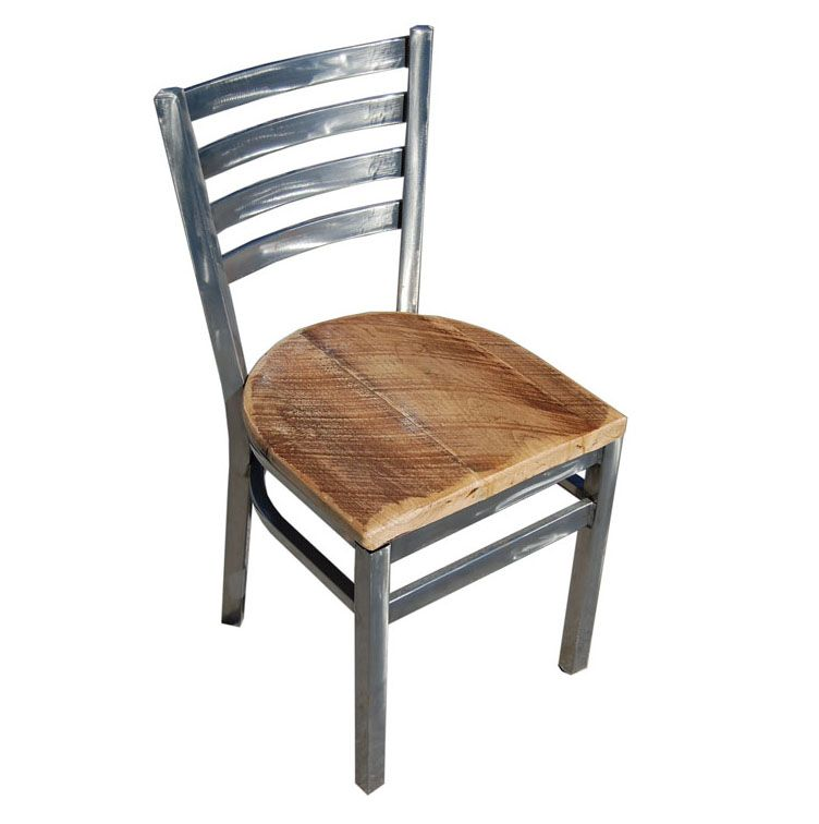 restaurant chairs wholesale distressed wood | Industrial Ladderback Chair...  Reclaimed Wood Seat - - Restaurant Chairs Wholesale Distressed Wood Industrial