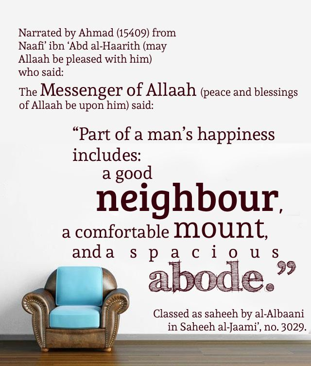 A Good Neighbour A Comfortable Mount And A Spacious Abode Neighbor Quotes Islamic Quotes Jesus Peace