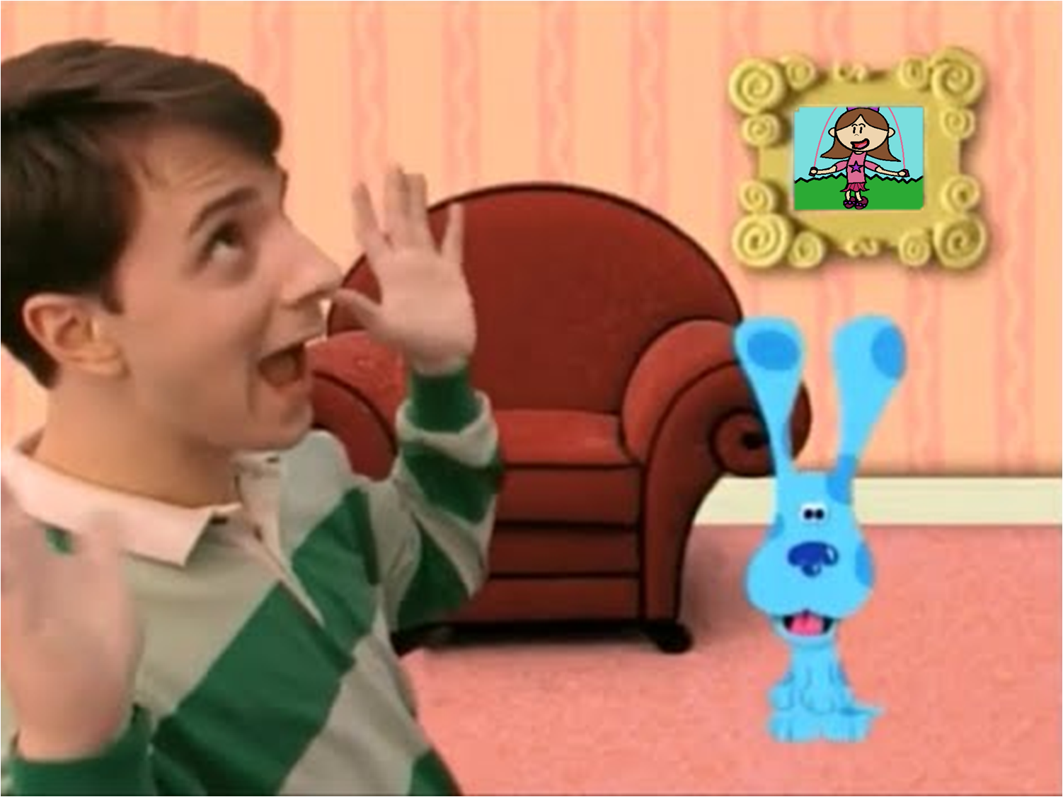 From Blue Wants To Play A Game Blues Clues Mario Characters Blues