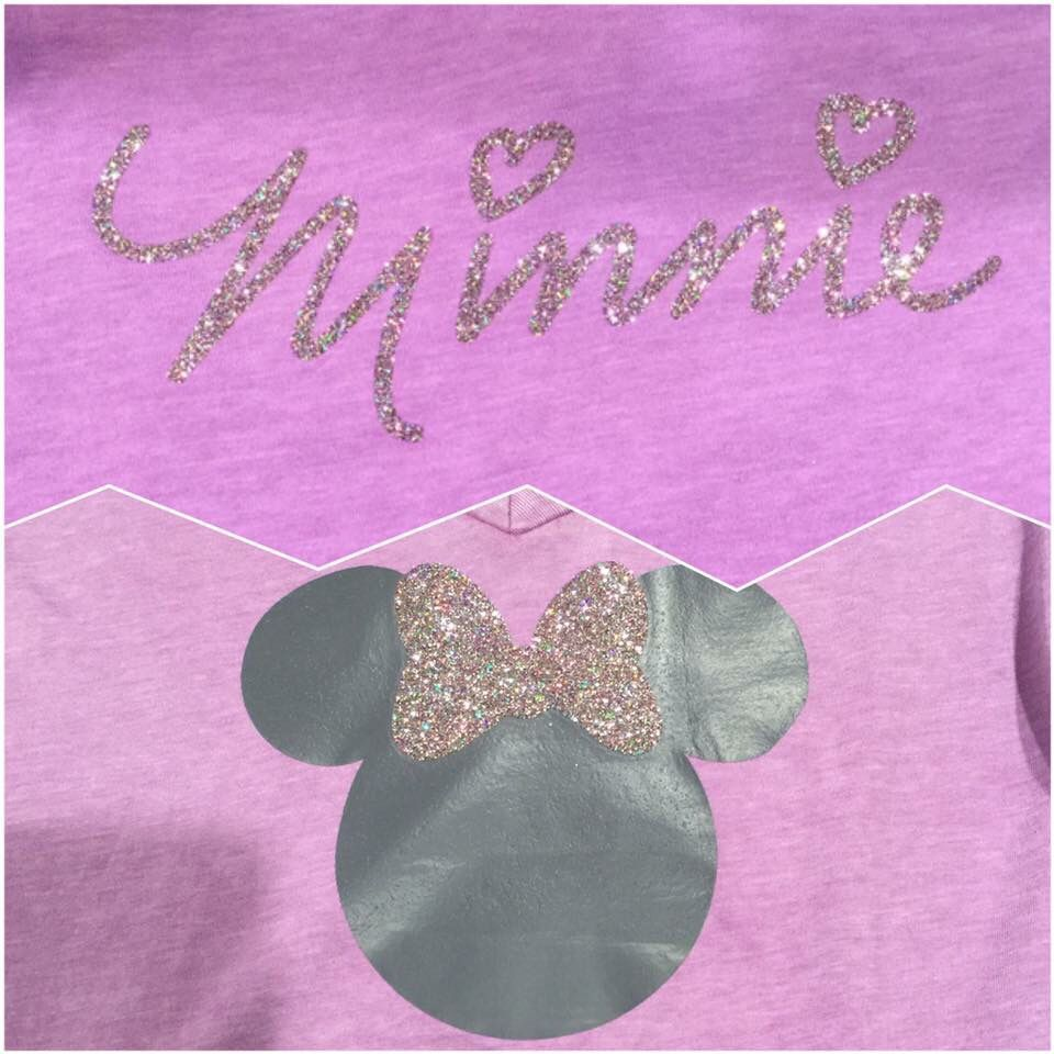 Minnie Mouse iron on for Tshirt. Cricut design space