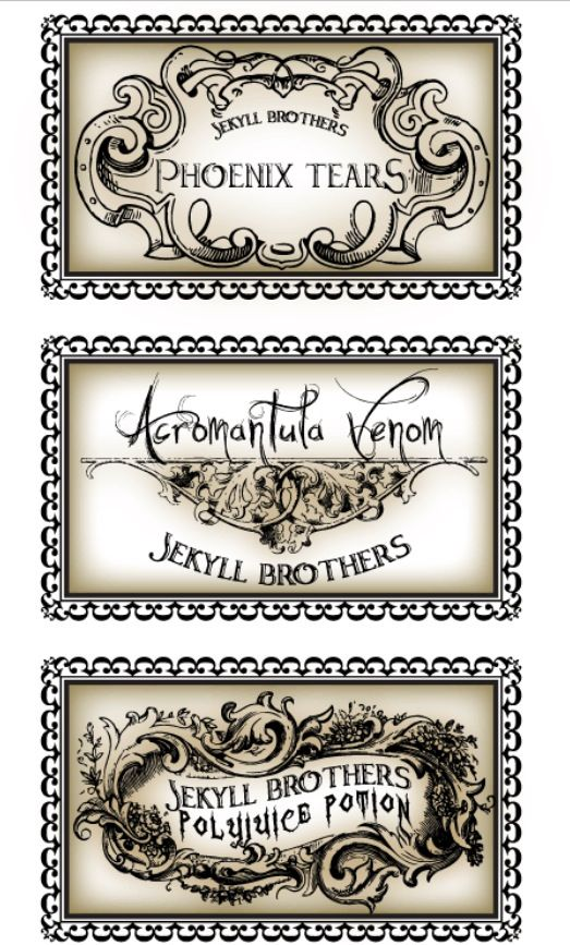 Dynamite image regarding harry potter apothecary labels free printable