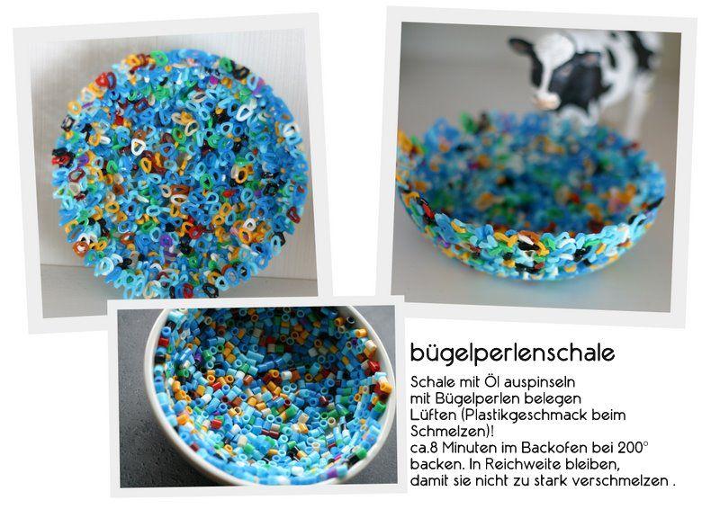 schalen+aus+bügelperlen+diy+basteln+selber+machen+kreatives+blau+, Garten und erstellen