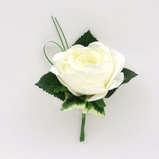 Artificialsilk cream rose buttonhole