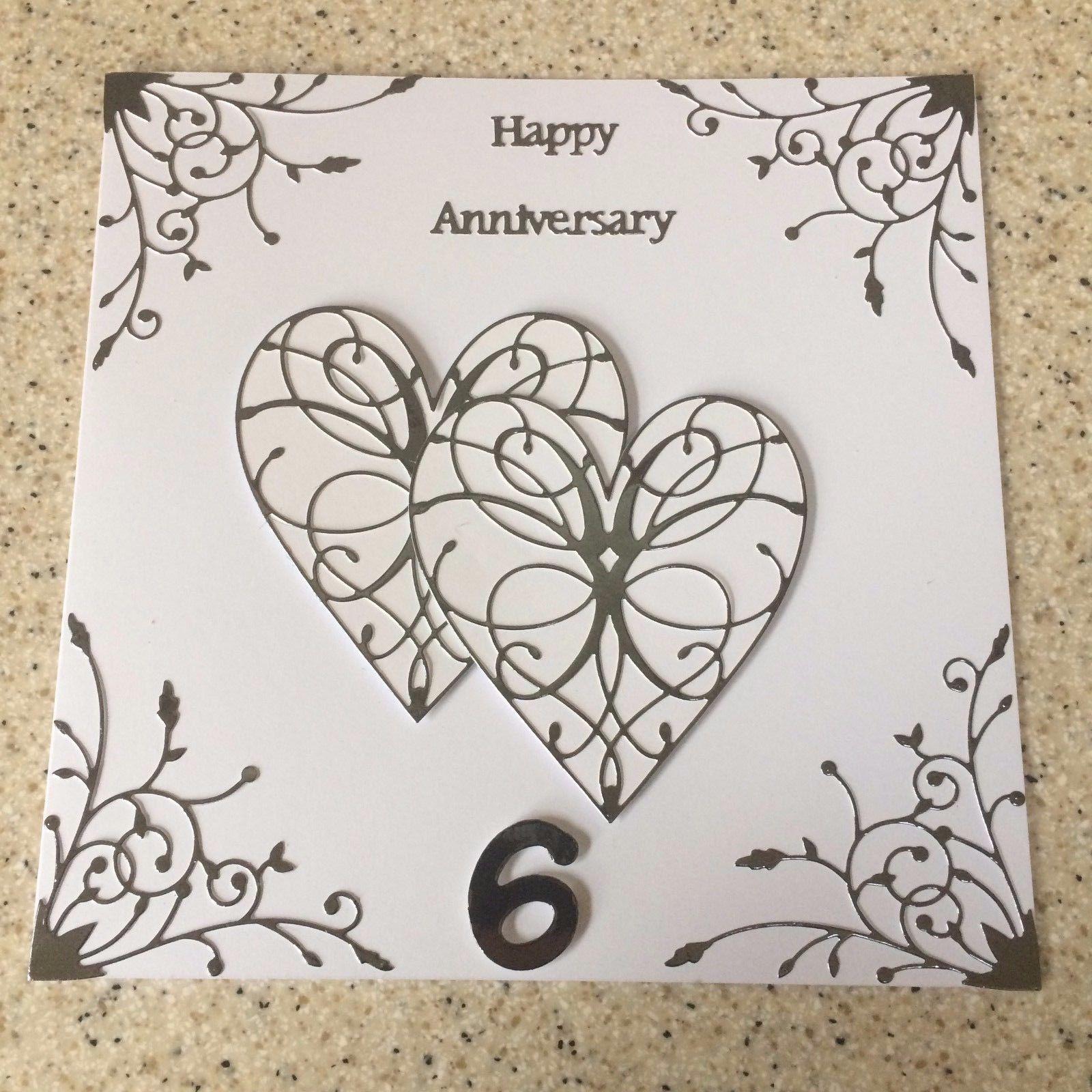 £4.5 GBP Handmade Iron Wedding Anniversary Card Happy
