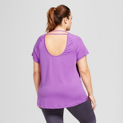 58f158be Women's Plus-Size Performance Strappy Back T-Shirt - C9 Champion - Lilac ( Purple) 1X